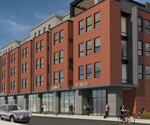 rendering of the exterior of the whole development